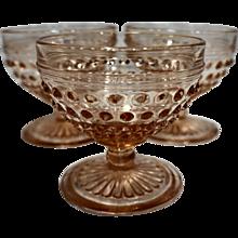 Hobnail Pink Depression Glass Hocking Sherbets Set of 3