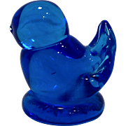 Leo Ward Bluebird of Happiness Art Glass Signed Figurine 2 IN