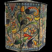 Baret Ware England Tin Paisley Floral Octagon Vintage