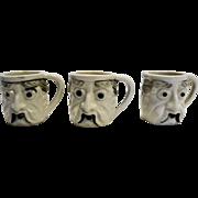 Mini Character Mugs Set of Three Japan Pottery