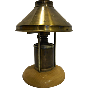 Plume & Atwood P&A Hornet Desk Lamp Brass Shade Oil Kerosene