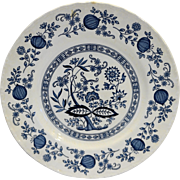 Enoch Wedgwood Blue Heritage Onion Dinner Plate