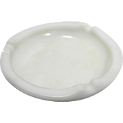 White Milk Glass Round Ashtray 5 IN