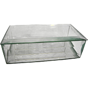 Beveled Glass Mirror Base Clear Trinket Box Dresser Jewelry Casket