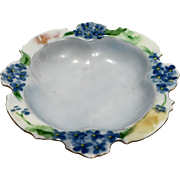 Rosenthal Bavaria Scalloped Pin Dish Hand Painted Blue Flowers