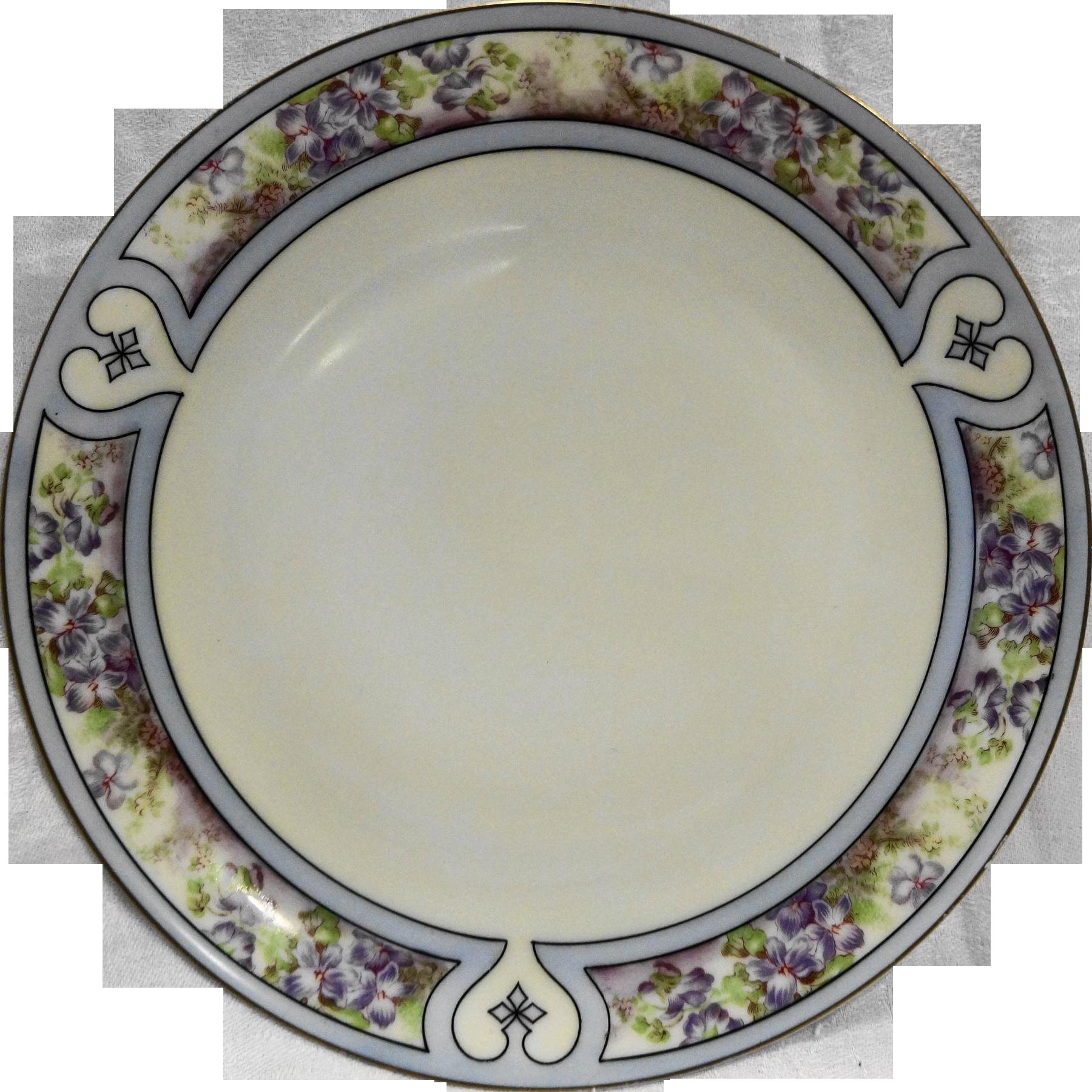 Hutschenreuther Favorite Bavaria Cabinet Plate Hand Painted Flowers Gold Trim Arts & Crafts