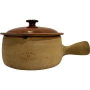 Terra Cotta Vallauris France Bean Soup Pot Glazed
