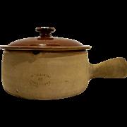 Terra Cotta Vallauris France Bean Soup Pot Glazed