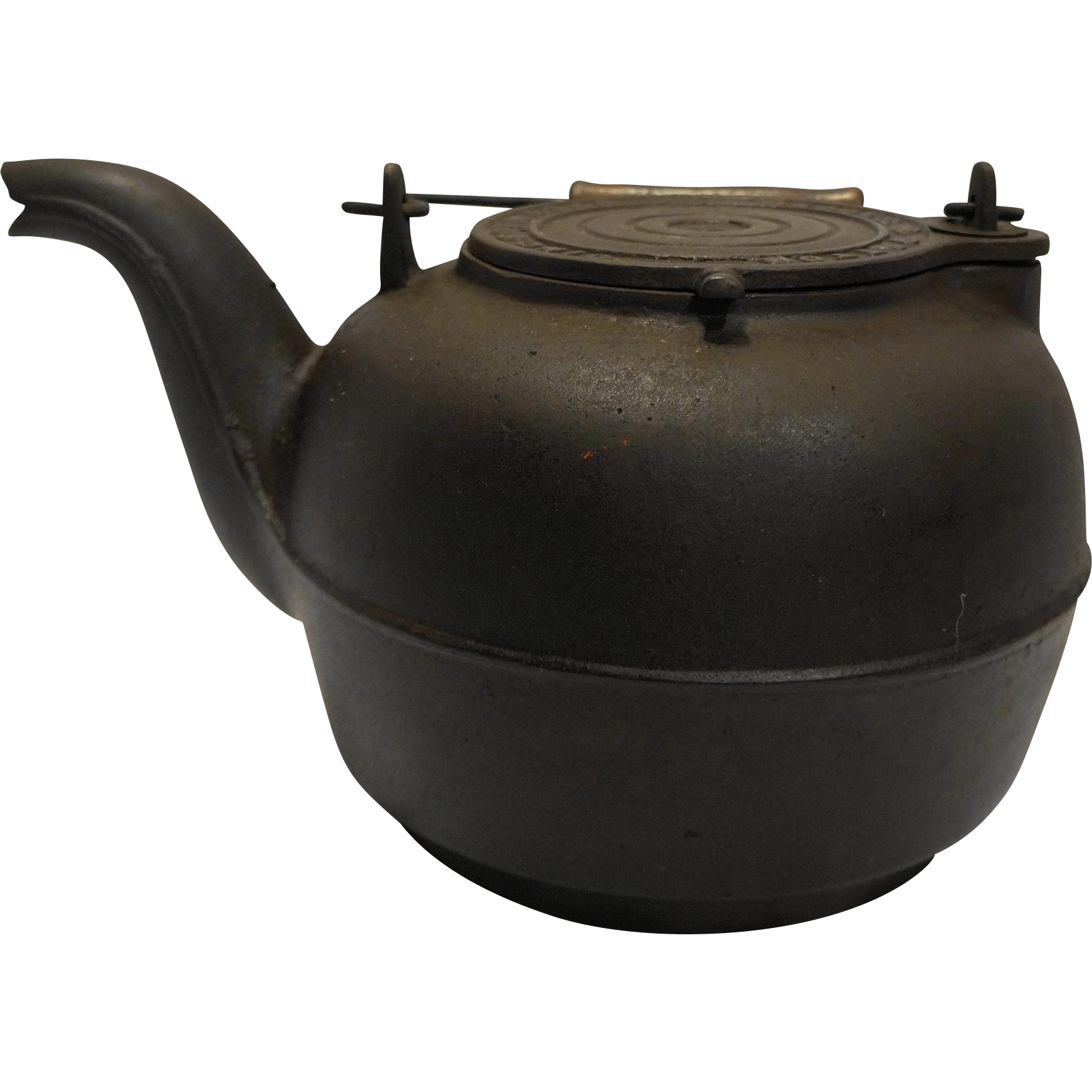 Brooks Patton Columbus Ohio Cast Iron Kettle Large Late 1880s