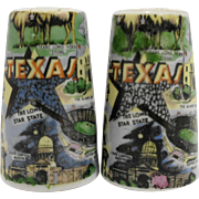 Texas Souvenir Salt Pepper Shakers Thrifco Japan Porcelain
