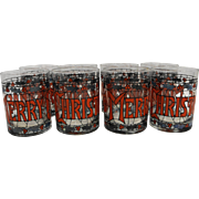 Merry Christmas Stained Glass Tumblers Set of 8 Cera