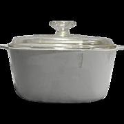 Corning Ware White Winter Frost Dutch Oven 3 QT 3L Square Casserole Domed Lid A-3-B