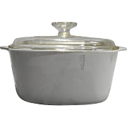 Corning Ware White Winter Frost Dutch Oven 3 QT 3L Square Casserole Domed Lid A-3-B