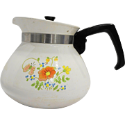 Corning Corningware Wildflower 6 Cup Teapot P-104