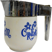 Gemco BLue Cornflower Cream Pitcher