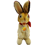Steiff Mohair Manni Rabbit EAN 3020/30 30 CM 1983 Vintage Western Germany