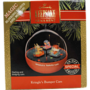 Hallmark Keepsake Ornament Kringle's Bumper Cars NIB 1991