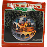 Hallmark Ornament Holiday Magic Village Express NIB 1986 Train
