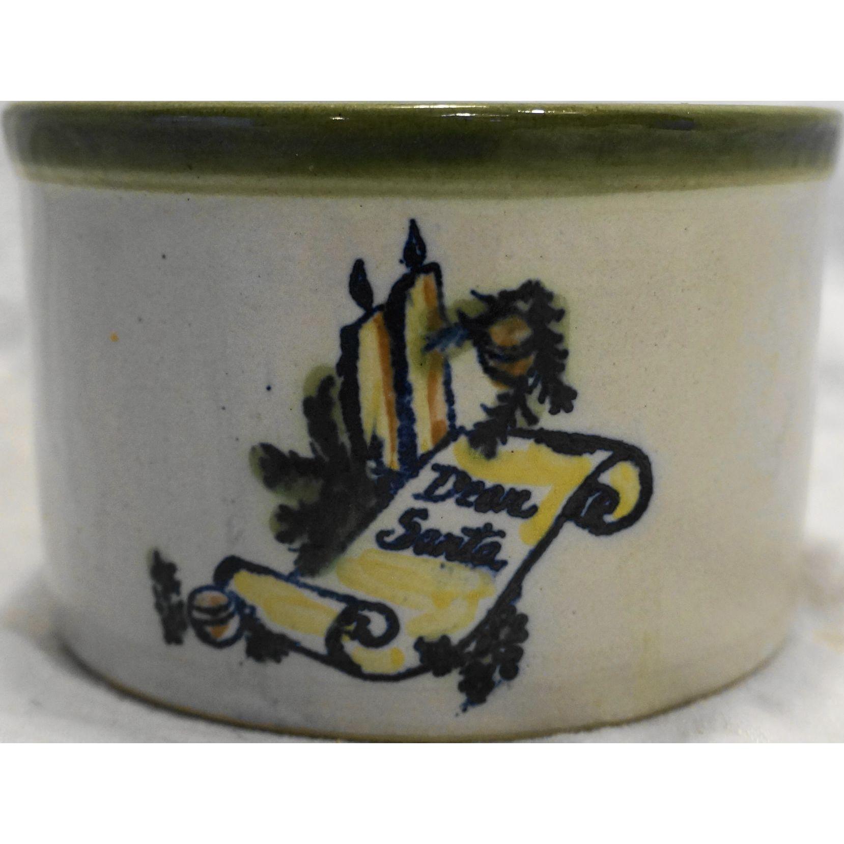 Louisville Stoneware Dear Santa Season's Greeting Crock Made For The Milk House 1978