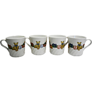 Corelle Corning Holiday Magic Christmas Teddy Bear Presents Mugs Set of 4