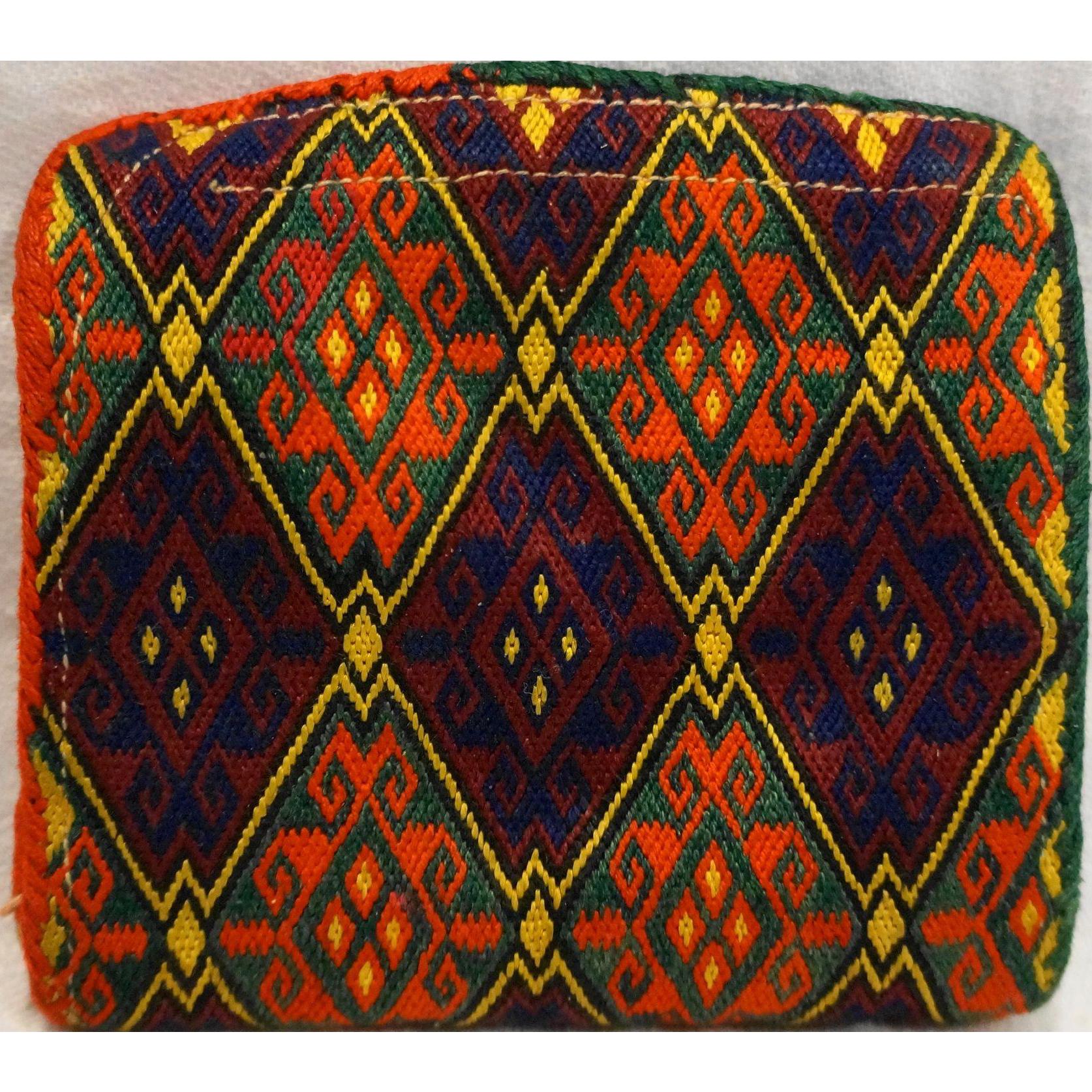 Ersari Ersary Turkoman Turkmen Silk Woven Small Wallet