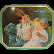 Mary Cassatt Russel Stover Tin 1997 Hinged Lid American Impressionist Patty Cake