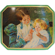 Mary Cassatt Russel Stover Tin 1997 Hinged Lid American Impressionist Patty Cake