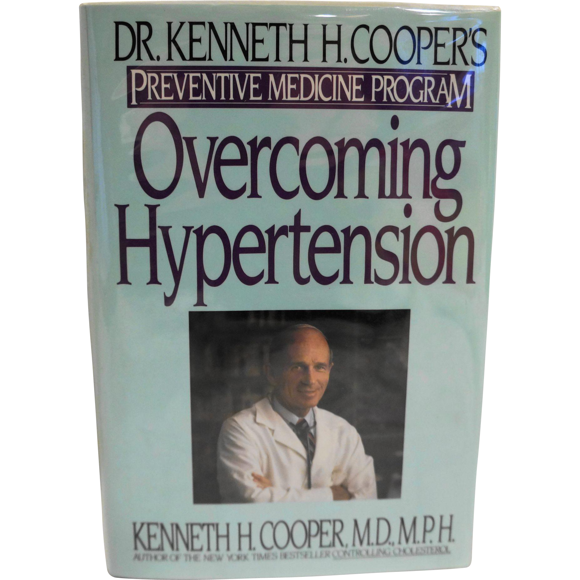 Overcoming Hypertension Hardcover Kenneth Cooper MD Library Copy Book