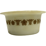 Pyrex Butterfly Gold Butter Margarine Round Tub Dish No Lid