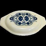 Pyrex Horizon Blue Oval Casserole Lid Only