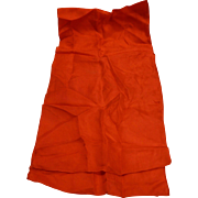 Red Silk Oblong Scarf 41 IN