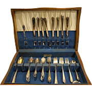 International Silver Exquisite Silverplate Flatware Set 52 Pieces With Chest