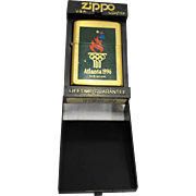 Zippo Lighter Atlanta 1996 Olympics High Polish Brass Enamel