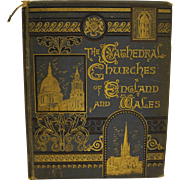 The Cathedral Churches of England and Wales 1885 Antique Book Illustrated Fair