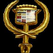 Cadillac Eldorado Seville Hood Ornament Gold Plated GM 1986-91