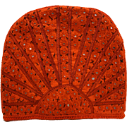 Red Cotton Embroidered Mirrored Tea Cosy Vintage Ethnic Folk Art