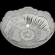 "Oneida Southern Garden Centerpiece Bowl 9.5"" Crystal Glass Cut Flowers Floral"