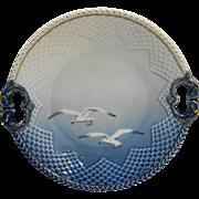 Bing Grondahl Seagull 304 Pierced Handled Cake Plate 10 1/2 IN