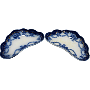 Ridgway Ridgways England Flow Blue Ebor Bone Dishes