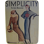 Simplicity Pattern Magazine Cover Tin 1988 Tin Box Co