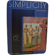 Simplicity Pattern May 1933 Magazine Cover Tin 1988 Tin Box Co