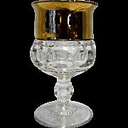 King's Crown Thumbprint Gold Band Goblet Stem