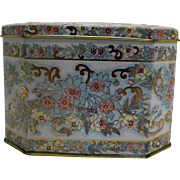 Meister Brazil Floral Tin Hinged Lid Box