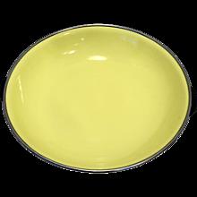 Black Yellow Enamel Saute Pan Bowl Yugoslavia Midcentury