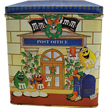 M&M's Post Office Christmas Letters for Santa Tin 1995