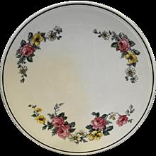 Homer Laughlin Kitchen Kraft Cake Plate Virginia Rose Armand 1940s