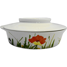Mikasa Uptown Ultra Ceram Bone China Floral Lugged Soup Bowl With Cover