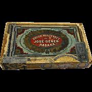 Hoyo De Monterrey de Jose Gener Habana Empty Vintage Cigar Box Pre Castro