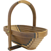 Deep Spring Studio Collapsible Wooden Basket Sepele Maple