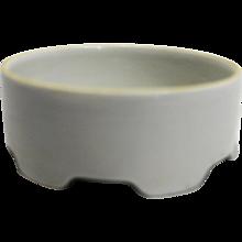 O & EG Royal Austria White Porcelain Powder Trinket Dresser Box Hair Receiver Base